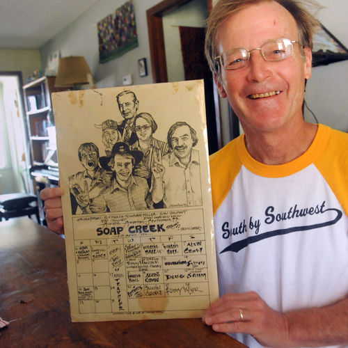 Author Joe Nick Patoski holds a relic from the tail end of Austin's glory days: The Soap Creek Saloon was the soul of Austin's scene while the Armadillo was the heart. Today, Patoski believes that Austin has the same big-city problems of Houston and Dallas, while the two larger cities have both gotten less suffocating.