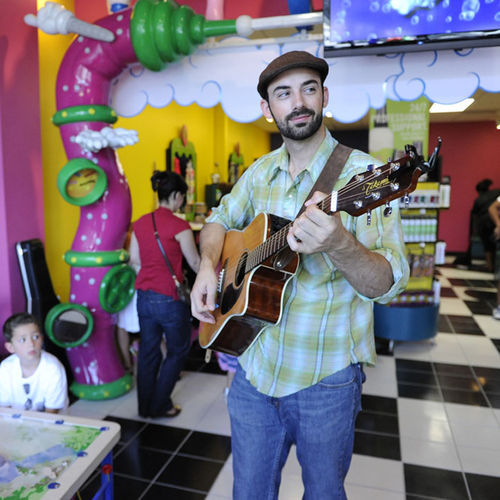 Andrew Karnavas, a.k.a. AndyRoo, is using his social media contacts to launch a children's music career.