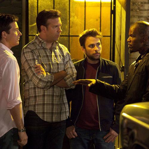 Two cameos by Jamie Foxx (right, with Jason Bateman, Jason Sudeikis and Charlie Day) are minor pleasures.