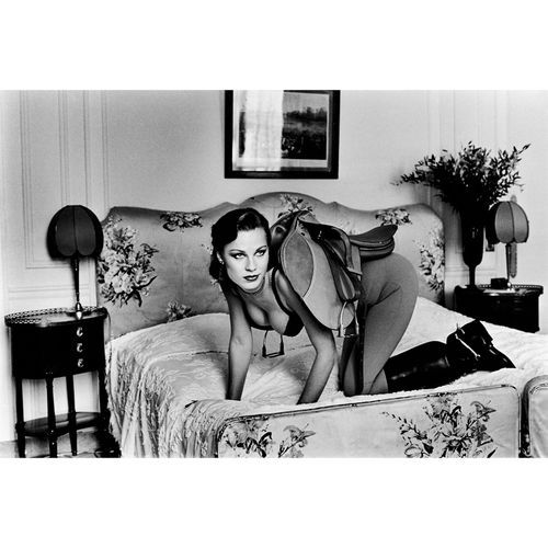 Helmut Newton was known for his provocative images as in Saddle I from the series Sleepless Nights.