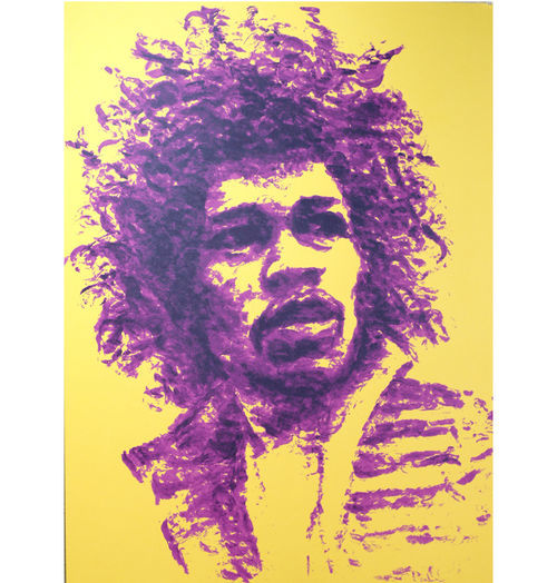 Irish's lip-print oeuvre includes a portrait of Jimi Hendrix – commissioned by famed poster artist Jermaine Rogers –