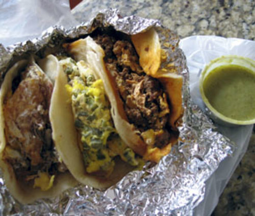 El Ultimo breakfast tacos.