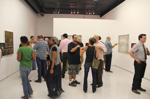 The opening reception for Alverson's copycat exhibit in early September drew hundreds to Art Palace.