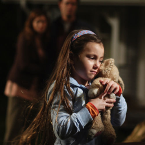 Emma (Rhiannon Leigh Wryn) can hear her stuffed animal speak.