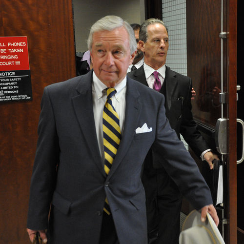 In a dramatic gesture after the trial, attorney Dick DeGuerin cut off Brown's ankle bracelet.