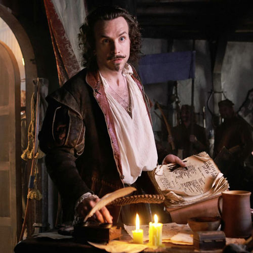 The Shakespeare (Rafe Spall) of Anonymous is nothing more than a drunken, whoremongering actor.