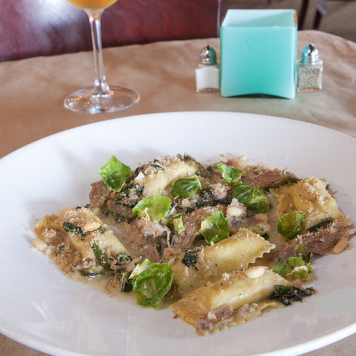 Fall in a bowl: the duck agnolotti.