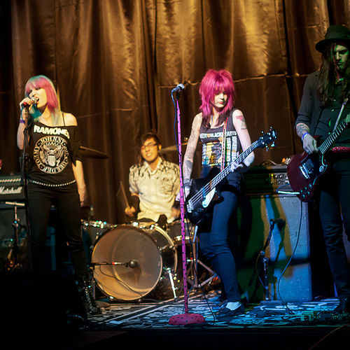 Local band the Freakouts play a vigorous brand of glam-rock.