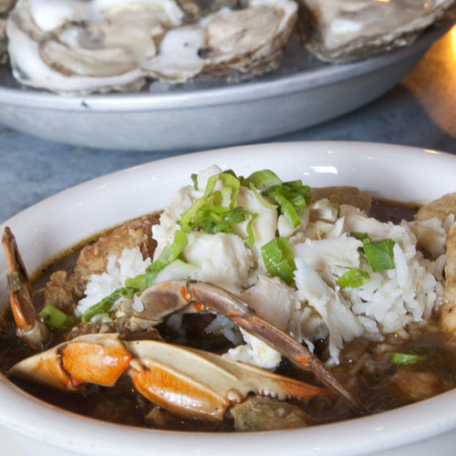 The gumbo is difficult to resist.