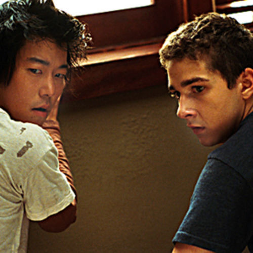 Disturbia has one thing going for it: Shia LaBeouf (right, with Aaron Yoo).