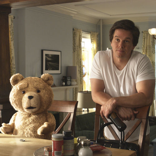 The foul-mouthed Ted is a bad influence on John (Mark Wahlberg).