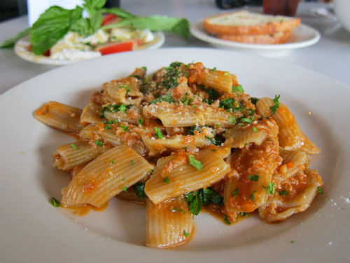 Fresh pasta awaits you at Paulie's.