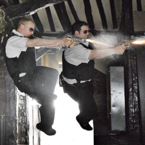 Hot Fuzz (with Simon Pegg and Nick Frost) is a cult film writ humongous.