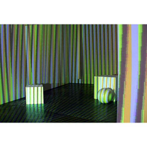 Carlos Cruz-Diez uses new technology to re-create a 1975 installation, Environment Chromointerférent.