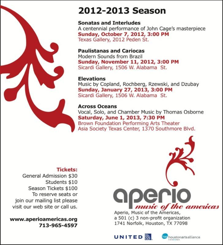 Aperio, Music of The Americas