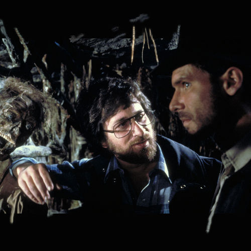 Spielberg and Ford on the set of Raiders of the Lost Ark.