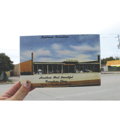 "Sembera's Furniture - 4661 Telephone Road. Claiming to be ""Houston's most beautiful furniture store,"" this home of quality furniture stands vacant today just outside the 610 Loop. It was last used as a discount store for damaged grocery products."
