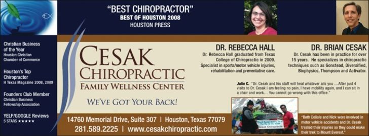 Cesak Chiropractic - Best of Houston Winner 2008