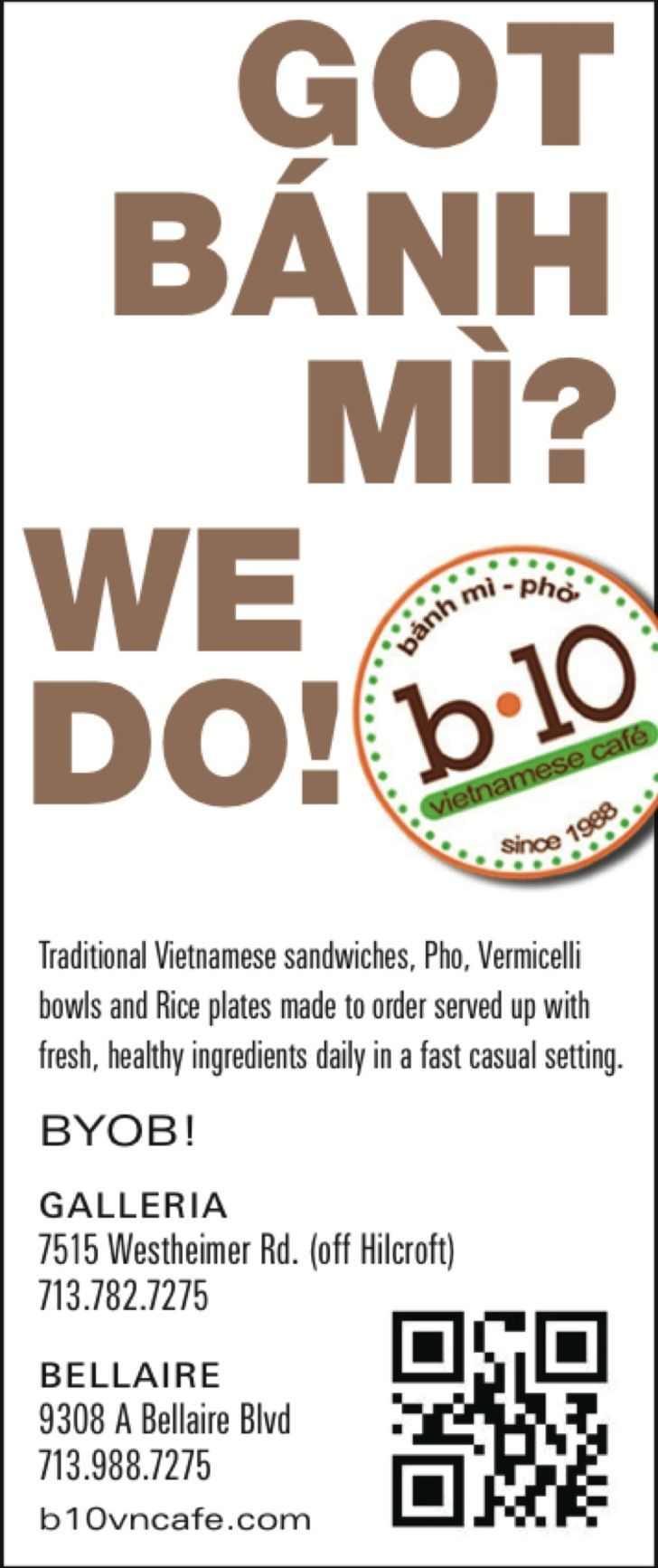 b10 Vietnamese Cafe 