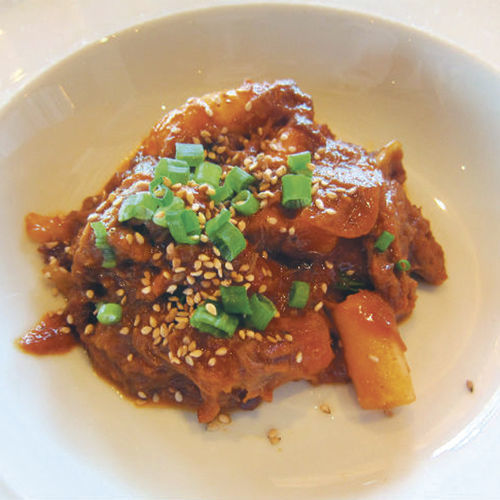 The dish has Southern, Korean and Mexican influences.