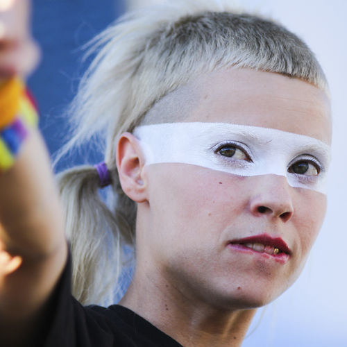 ACL Music Festival: South Africa techno-rap group Die Antwoord's profane set Sunday was alarmingly close to the Austin Kiddie Limits Stage.