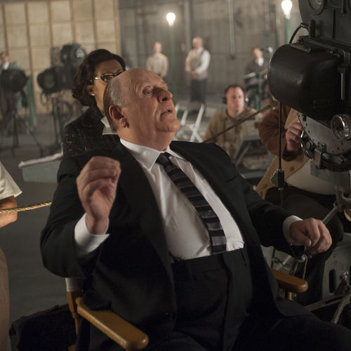 Sir Anthony Hopkins dons a sack of fat to play Hitchcock.