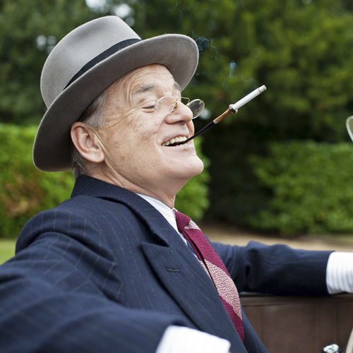 Bill Murray plays FDR with rumpled charisma.