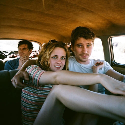 Kristen Stewart and Garrett Hedlund in the front seat, with Sam Riley in back, take on Jack Kerouac's Beat Generation.