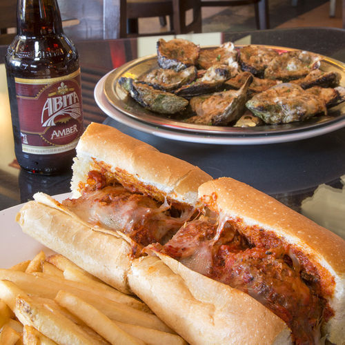 You can't go wrong with LA Bar's meatball po-boy or chargilled oysters.