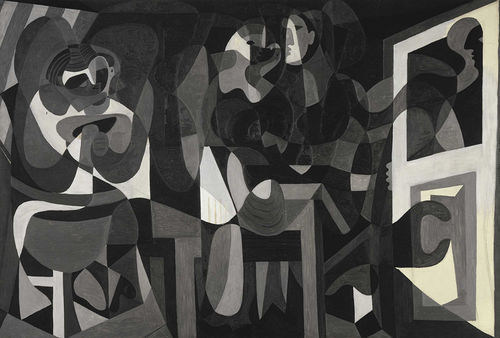 Pablo Picasso's The Milliner's Workshop stands out for its dense and beautiful composition.