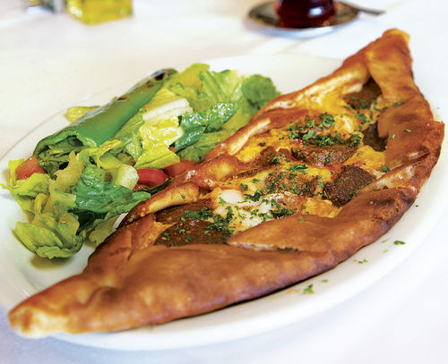 A sausage- and egg-stuffed pide is the Turkish version of a calzone, but better.