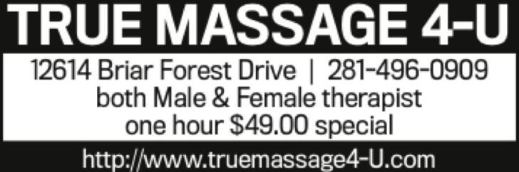 Houston Finest Massage Therapist