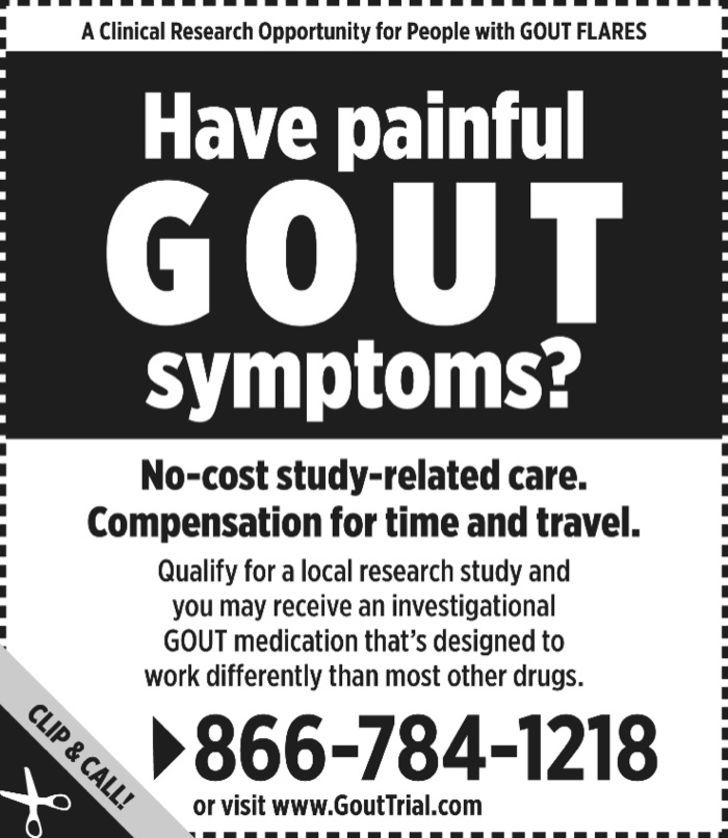 Medical Research on Gout!