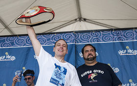 Thumbnail for The 2013 Houston Greekfest Gyro Eating Contest And More