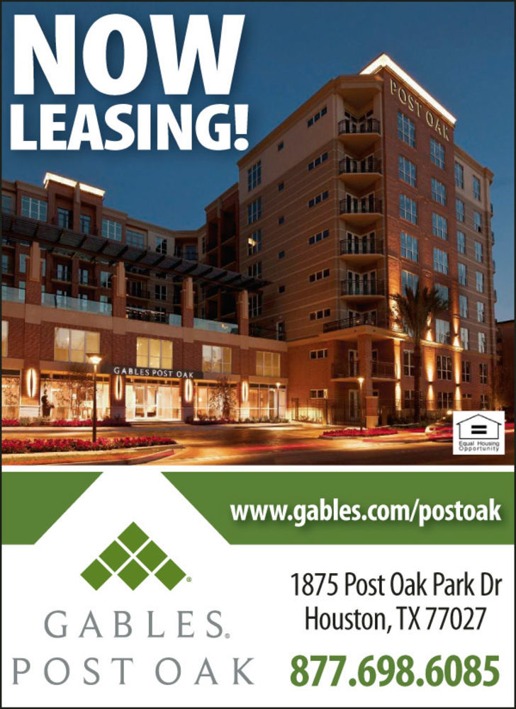 Now Leasing Gables Post Oak