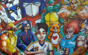 Thumbnail for Cartoons and Cereal: '80s Cartoon Crazy Group Art Show Channels Childhood