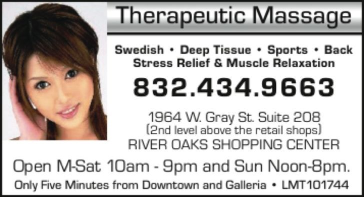 Galleria Area Massage Therapist