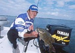 Champion bass fisherman Gary Yamamoto is a  regular guest on Saturday-morning fishing shows.