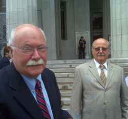 Gustavo and Alfredo Villoldo walk out of court after the historic judgment.