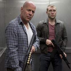 John McClane (Bruce Willis) and John McClane, Jr. (Jai Courtney) continue the family tradition.