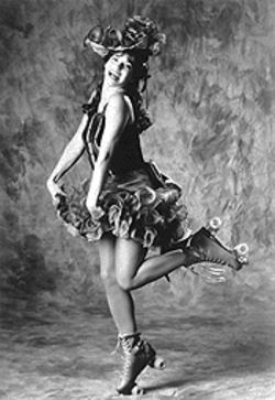 Roller queen: Darcie Roberts puts a happy face on Fanny Brice's sometimes turbulent life.