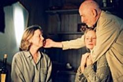 Ingmar Bergman (right, with Liv Ullmann and Julia 