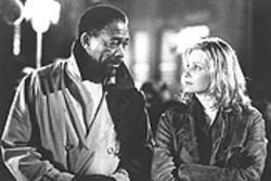 Damaged goods: Morgan Freeman and Monica Potter play a pair of guilt-driven cops looking for redemption — and some better dialogue.