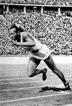 Jesse Owens defies Nazi expectations at the 1936 