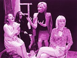 Women on the verge: The all-female cast in Anton in Show Business produces a rare chemistry that radiates with joy and energy. From left, Joanne Bonasso, Anne Quackenbush, Connie Cooper and Shelley Calene-Black.