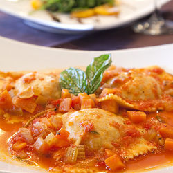 Every wonderful piece of pasta is handmade, including the oxtail ravioli.