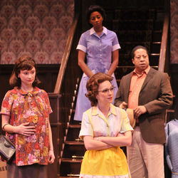 (L-R) Emily Neves as Betsy, Elizabeth Bunch as Bev, Libya V. Pugh as Francine and David Rainey as Albert don&#039;t quite know how to get along.