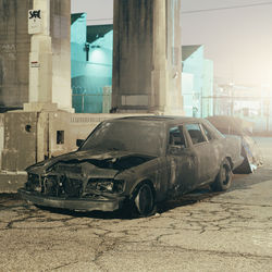Burned Car, Los Angeles: One of Will Steacy's images of chaos, poverty and violence.