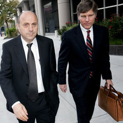 Samir Itani (left), pictured with attorney Paul Nugent, was sentenced to two years in prison in December of this year.