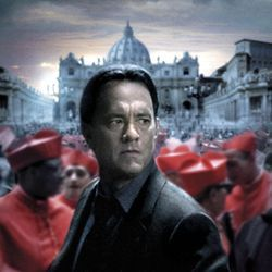 Angels & Demons with Tom Hanks: another treat for whacked-out male conspiracy theorists.